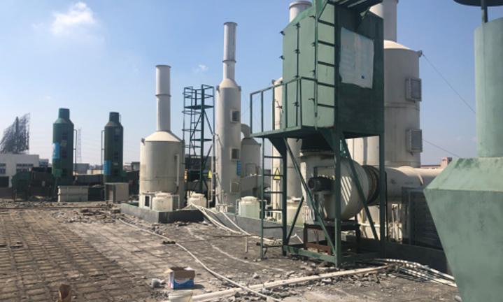废气处理厂喷淋塔治理工程