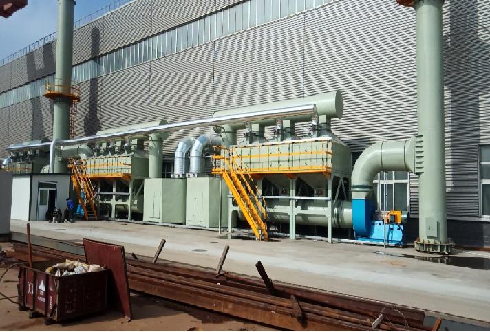 预处理+活性炭吸附浓缩+催化燃烧  VOCs 处理工艺